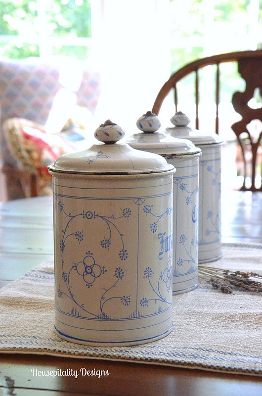 French Enamelware Canisters - Housepitality Designs
