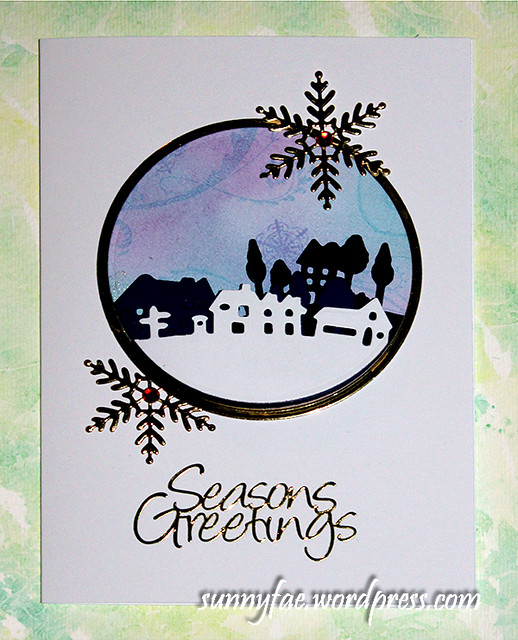Village Scene Christmas Card2