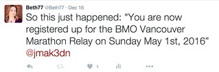 BMO marathon relay tweet