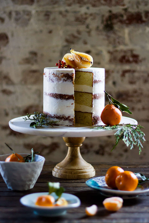 Cardamom Cake with Honey Buttercream