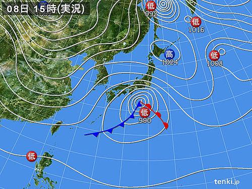 Photo:天気図_2014-02-08-15-00-00-large By:dokachin