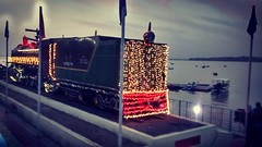 The serenity of the Bada Talab in Bhopal is accentuated in the evenings when the heritage  rail engine displayed there gets lit up and punctures the twilight with its vibrance. #indiaclicksindia #indiapictures #pictureoftheday #madhyapradesh #bhopal #wate
