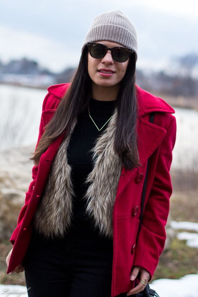 black sweater, fur vest, red coat, fringe bag-4.jpg