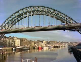 View from Newcastle Swing Bridge, 1976