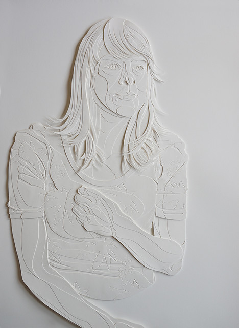 Papercut Figure Relief