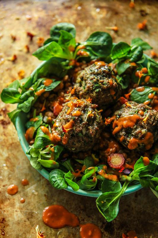 Garlicky Lamb Meatballs
