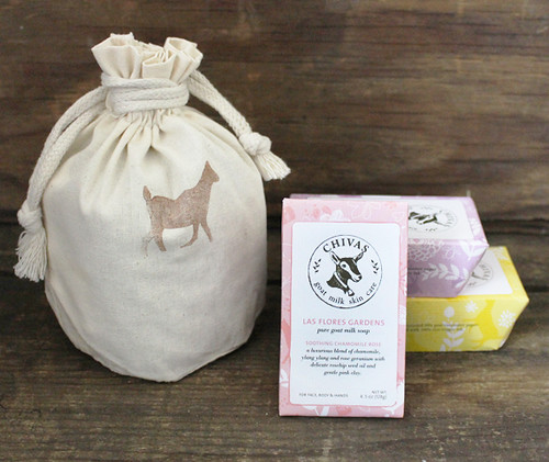 floral soap trio gift bag
