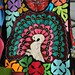 Peacock Embroidered Huipil Mexico by Teyacapan