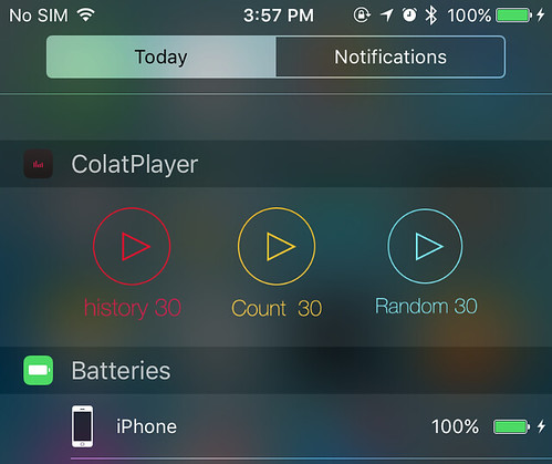 ColatPlayer v2 TodayExtension (Widget)
