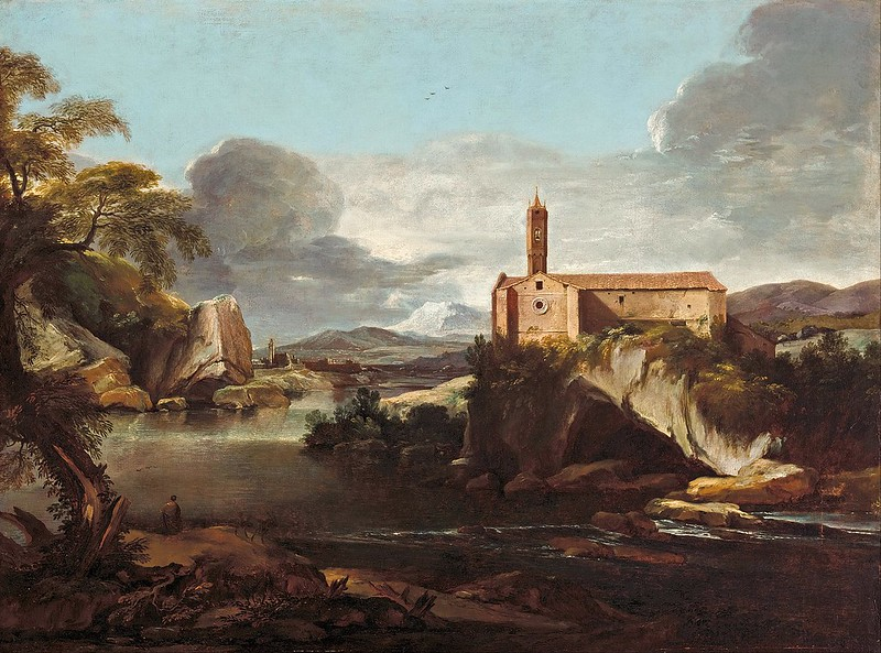 Jacques Courtois - Rocky valley (c.1660)