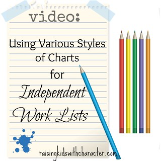 Using Various Styles of Charts for Independent Work Lists