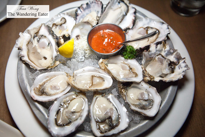 Mix of local Pacific Northwest oysters and Kushi Oysters