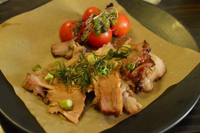 Spit-roast pork