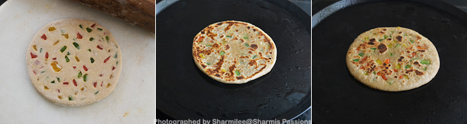 How to make Capsicum paratha - Step2