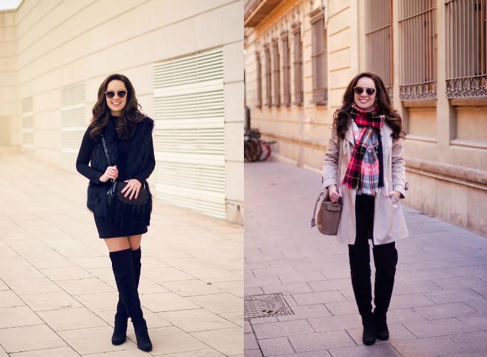 4 maneras de combinar unas botas altas negras