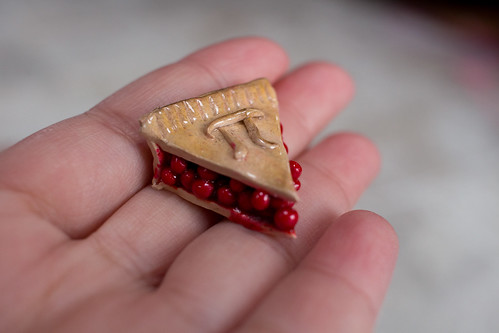 Cherry pi pie charm from my Pi(e) swap package!