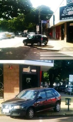 carro calçada