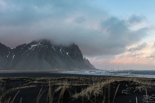 morning winter mountains sunrise blacksand coast is iceland east february basalt 2015 easticeland stokksnes