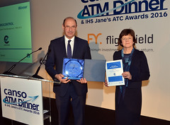 On 7 March 2016, the night before the World ATM Congress opened, EUROCONTROL received the Jane's 2016 ATC Special Achievement Award for twenty years of central flow management at a special ceremony.  The prestigious Jane's ATC Awards reward collaborative and innovative efforts to improve airspace management; they celebrate improvements in air traffic control and airspace management. This year, Jane's introduced a new category to recognise this significant European achievement.  IHS Jane's Award in the Environment Category went to DSNA and partners (EUROCONTROL's Network Manager, British Airways, EasyJet, Ryanair, KLM and Thomas Cook Airlines for Collaborative Advanced Planning.  IHS Jane's Award in the Runway Category went to EUROCONTROL, Heathrow Airport, Lockheed Martin, NATS for Time-Based Separation.