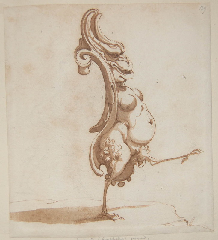 Arent van Bolten - Monster 139, from collection of 425 drawings, 1588-1633