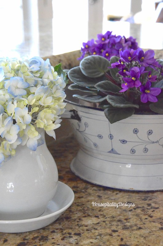 Ironstone and enamelware with flowers - Housepitality Designs