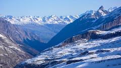 Widok na południe z przełęczy Gran Etret 3002m. Dolina Orca