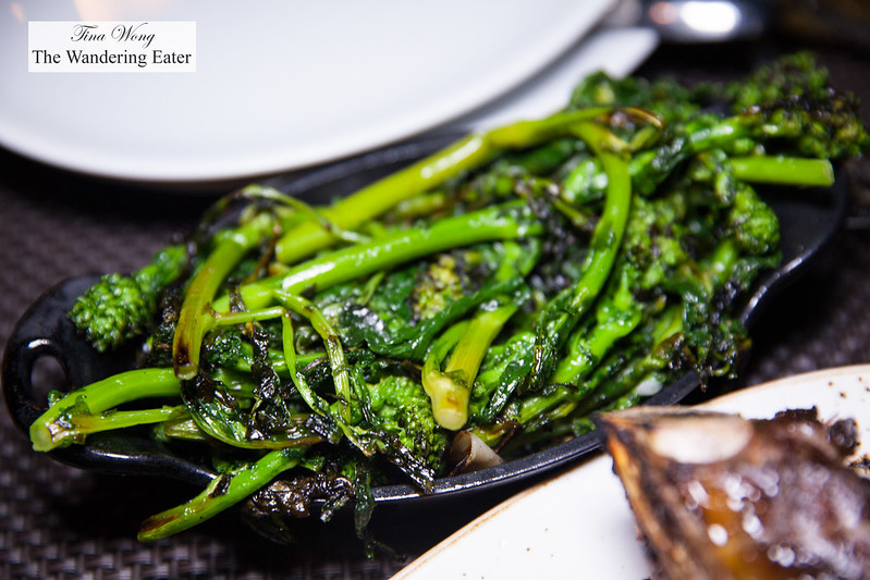 Wood-grilled broccolini, garlic and extra virgin olive oil