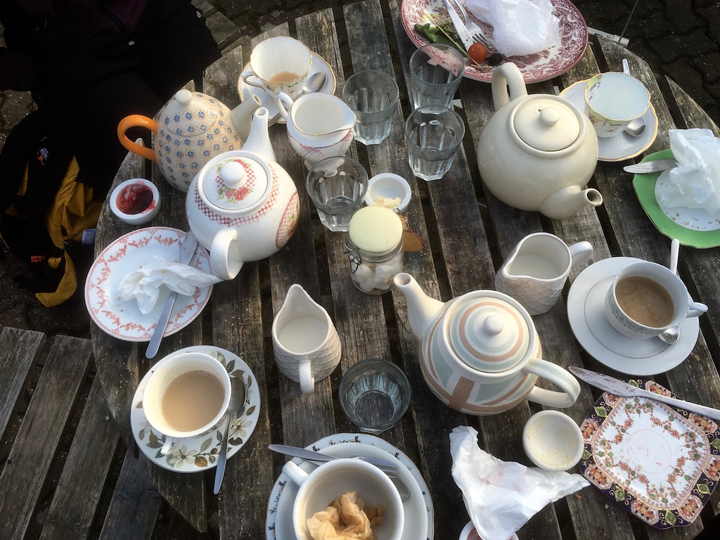 Tea at the Tulip Tree Tonbridge to Penshurst walk