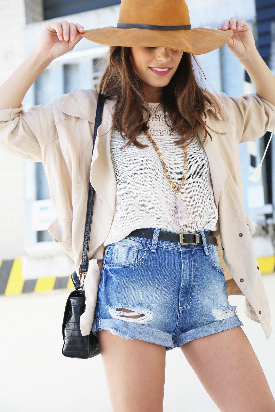 denim shorts linen camel parka jessie chanes 11