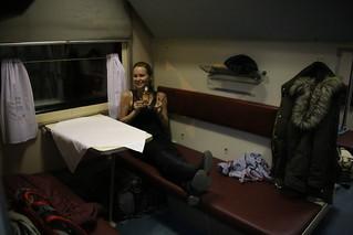 Polskart Class on the train.