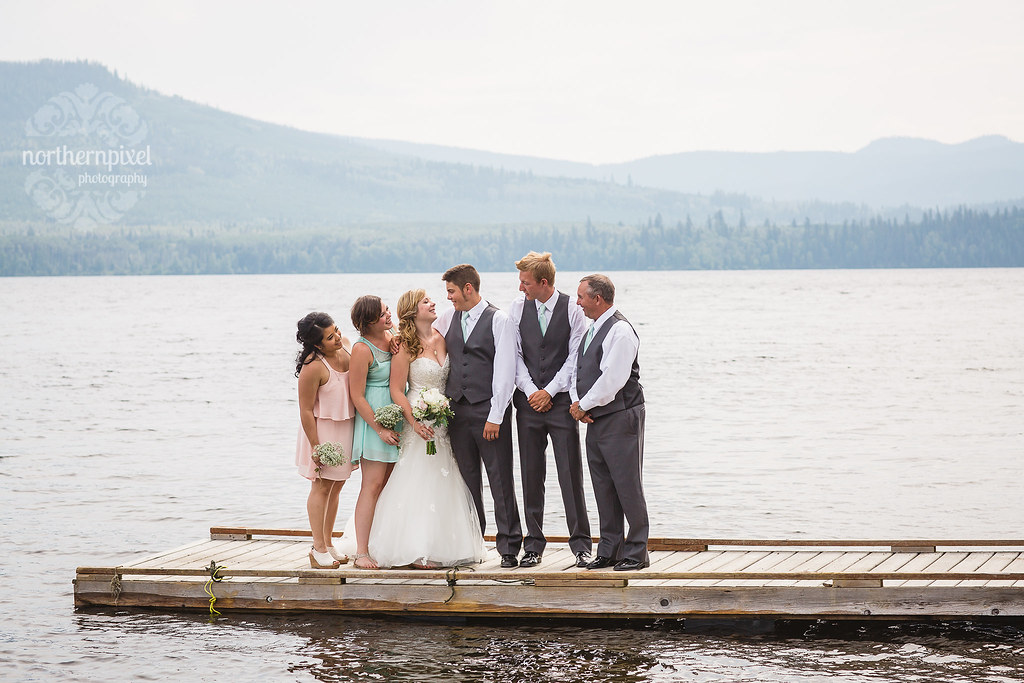 Bridal Party - Francois Lake BC Wedding