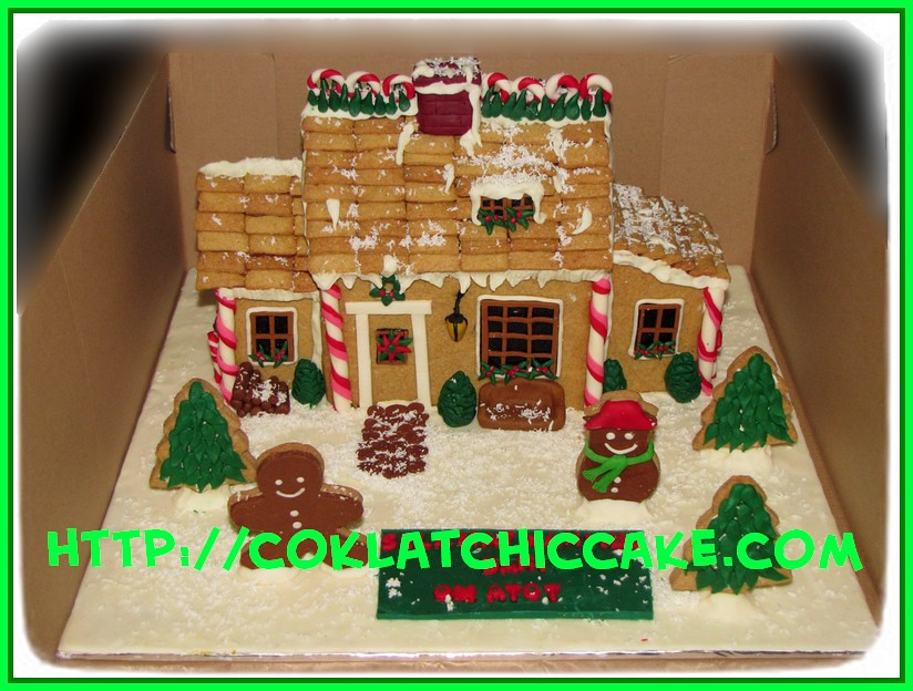 Gingerbread home cake