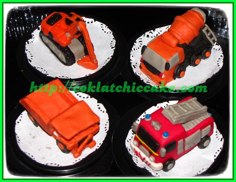 Minicake molen, minicake pemadam kebakaran, minicake excavator, minicake truk