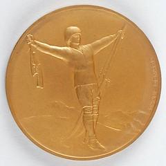 Chamonix 1924 Winter Olympics Gold Winner's Medal obverse