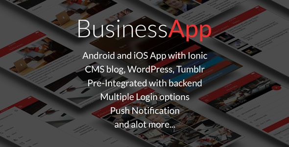 CodeCanyon BusinessApp - Ionic iOS/Android Full Application with powerful CMS