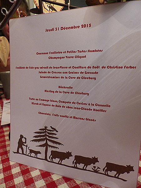 menu 31 12
