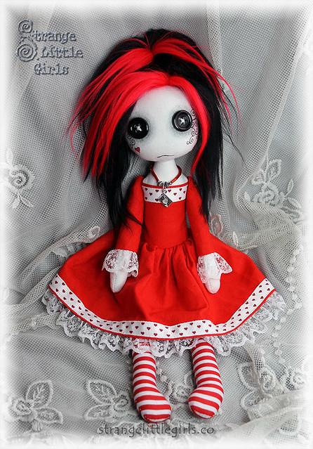 Gothic Lolita art doll - Valentina Rouge
