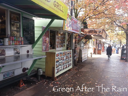 Alder Street Food Cart Pod Portland Or Day 3 Green After The Rain