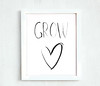 Printable - Grow heart  8 10
