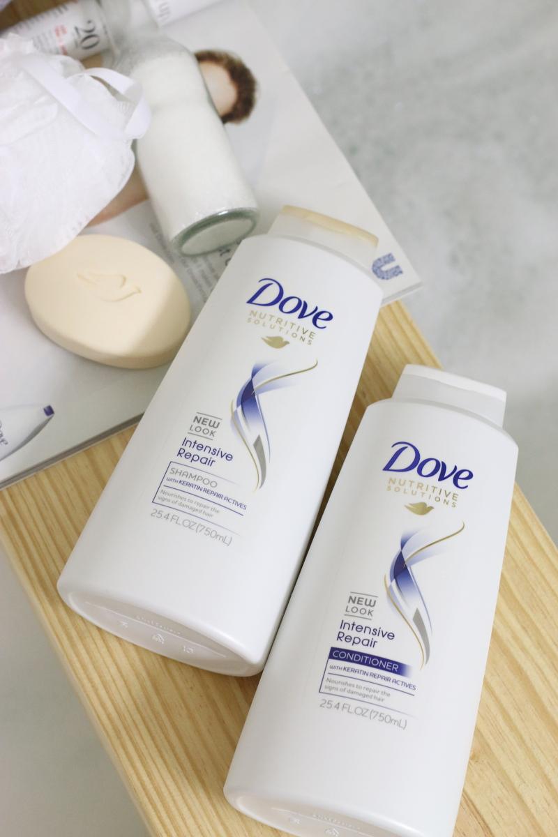 Dove Nutritive Solutions, shampoo, conditioner, bath, hair care