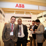 ABB delegates at exhibtion booth