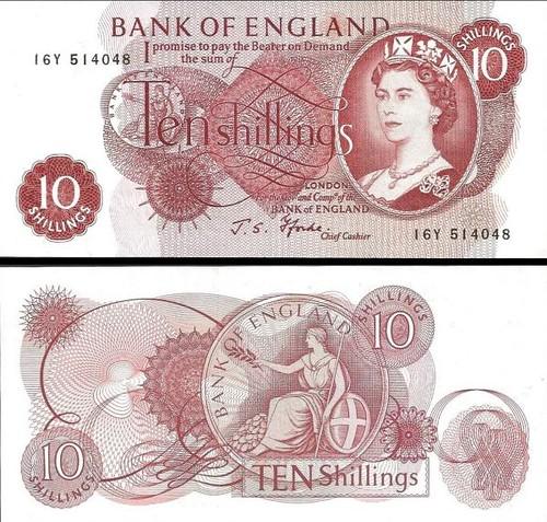 10 Šilingov Veľká Británia 1966, P373c UNC
