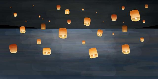 lantern+ocean
