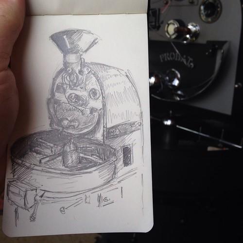 Probat roaster at Coffee Ethic