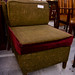 Green fabric lounge chair