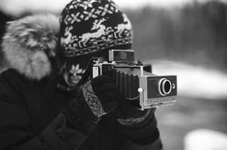 Natali with Land-100 camera