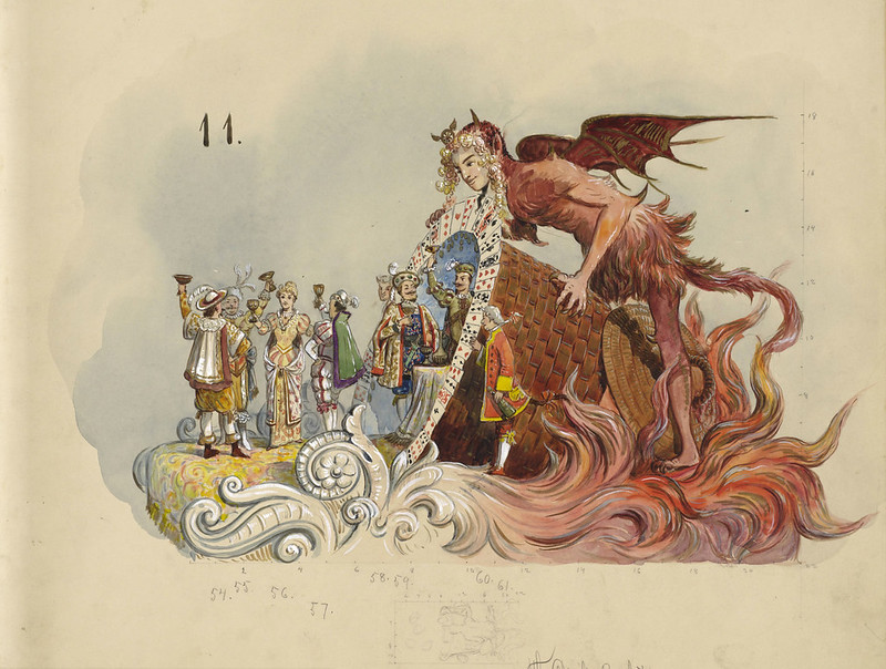 Bror Anders Wikstrom - The Devil's Basket, float design from Krewe of Proteus, 1898