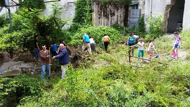 Pulizia e recupero dell'area archeologica dell'Ex Asilo Filangieri