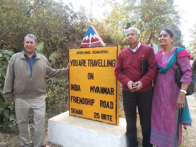 4.11th Feb_Ranjit Barthakur, S. Ramadorai and Mala Ramadorai at Indo Myanmar Freindship Road, Moreh-Tamu