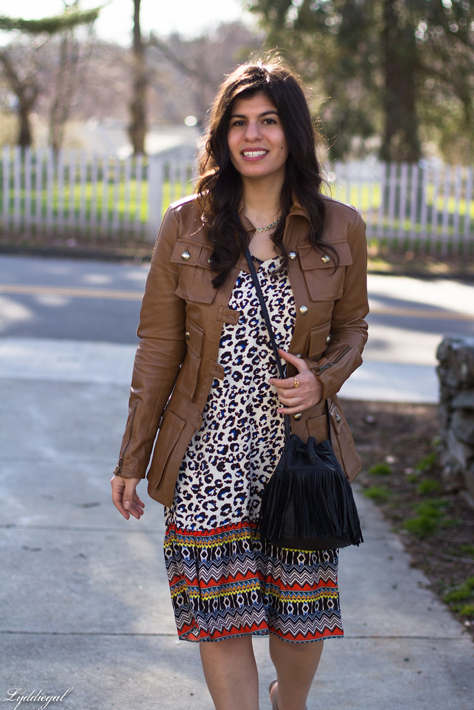 leopard print dress, leather jacket, fringe bag-1.jpg